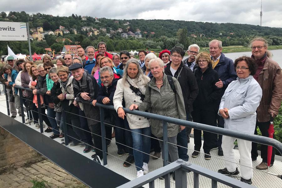 Mitglieder des Hospizvereins Bayreuth e. V. beim Mitgliedsausflug